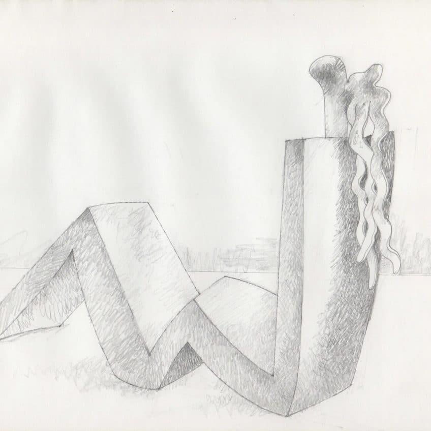 Recliner Sculpture Sketch