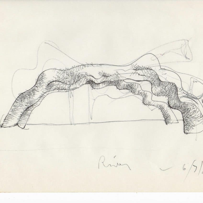 River Sculpture Sketch