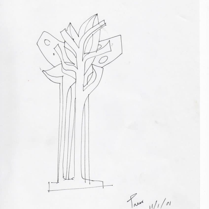 Tree Sculpture Sketch